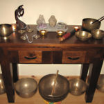 Singing bowls on table nr1