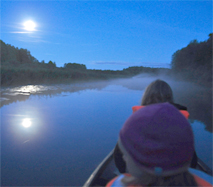 evening moon paddling