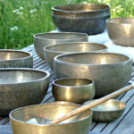 Singing bowls on table nr2